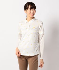 【WOMEN】とび柄ポロシャツ