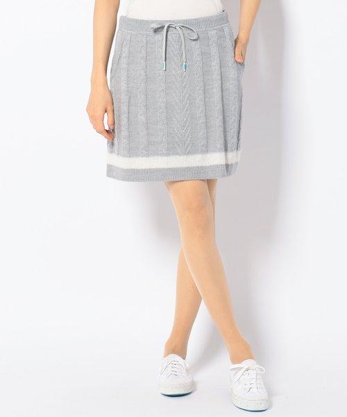 【WOMEN】ウール/アクリル ニット×ブークレー スカート