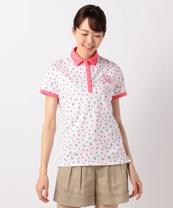 【WOMEN】【UVケア】汗染み防止プリズムプリント ポロシャツ