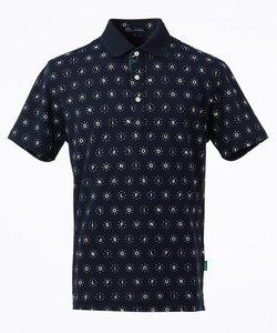 【MEN】【吸水速乾 / UVケア】GOLF IS FUNプリント ポロシャツ