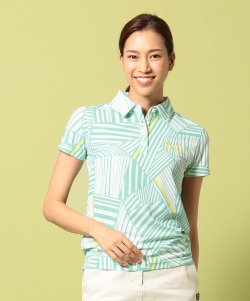 【WOMEN】【吸水速乾 / UV】成田プロコラボ ポロシャツ