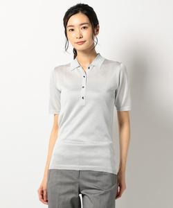【洗える】Lurex Yarn ポロシャツニット
