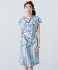 【洗える】Cotton Stripe ワンピース