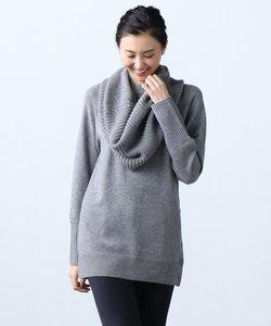 【梅春新作】Soft Wool Middle スヌード付き ニット