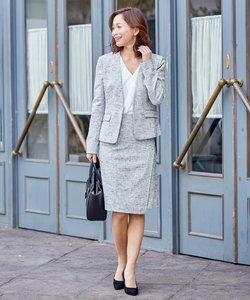 【00~8サイズ展開】【セットアップ】Clast Tweed スカート