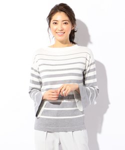 【WEB限定】Line Cloth Combi 袖コンシャスニット