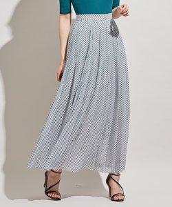 【洗える】Lozenge PT ドットスカート