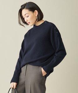 【マガジン掲載】Soft Cashmere Mix ボタンニット(番号CL32)
