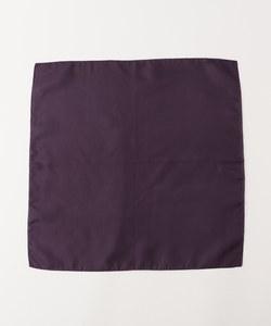 【日本製】無地シルクチーフ 紫系