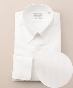 【形状安定】【ストライプ】プレミアムプリーツ ドレスシャツ
