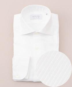 【日本製】【ワイドカラー】 SLOWVINTAGE ドレスシャツ ツイル