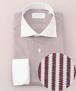 【日本製】【ワイドカラー】 SLOWVINTAGE ドレスシャツ クレリック
