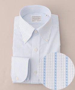 【形状安定】サマープレミアムプリーツ ドレスシャツ ボタンダウン