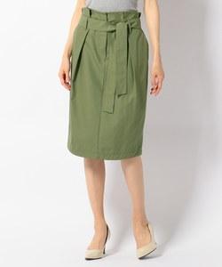 【洗える】コットンピーチツイル スカート
