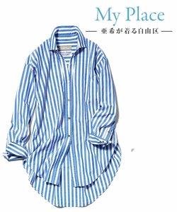 【マガジン掲載】TIMELESS イタリアCANGIOLI ロングシャツ(検索番号C46)