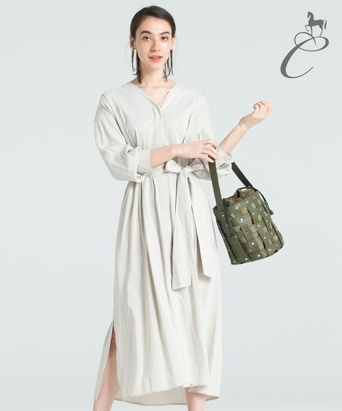 【Class Lounge】FEATHER LINEN シャツワンピース