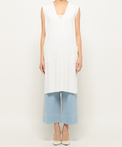 SLEEVELESS LONG KNIT [DAHLIA] ニット