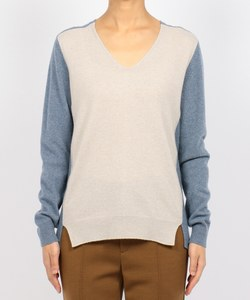COLOR BLOCK V-NECK KNIT [TULLE] ニット / セーター