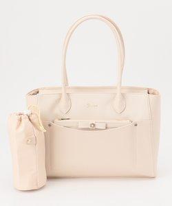 【A4サイズ収納可】ビジューポーチ付き多機能トート バッグ