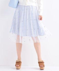 【手洗い可】petitフローラルギンガム スカート