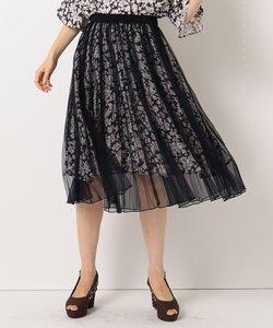 【洗える】Mixフローラルクロージング スカート