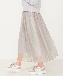 【洗える】オパールシフォンレイヤード スカート
