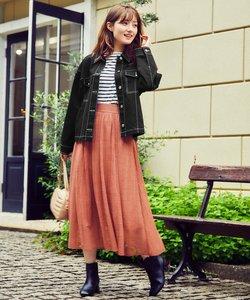 【洗える】Verticalパターンレース スカート