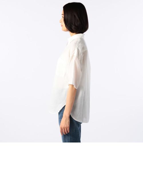 コットンラミーボイルショートスリーブビッグシャツ
