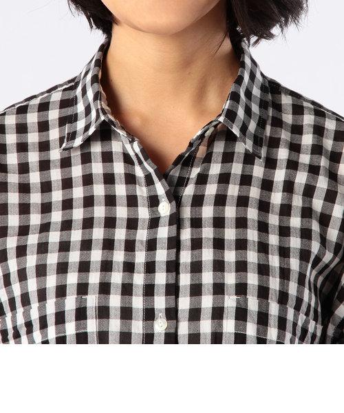 ギンガムチェックショートスリーブビッグシャツ