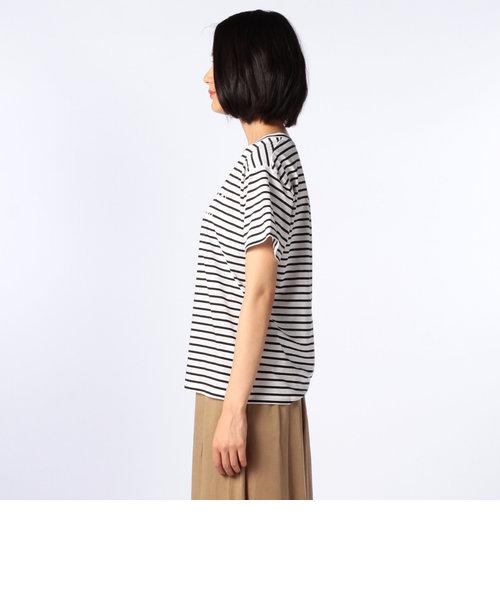 厚版プリントボーダーTシャツ