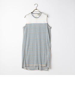 S 【Sea New York/シー ニューヨーク】 Lace&Stripe Slvls Dress (SS15-27)