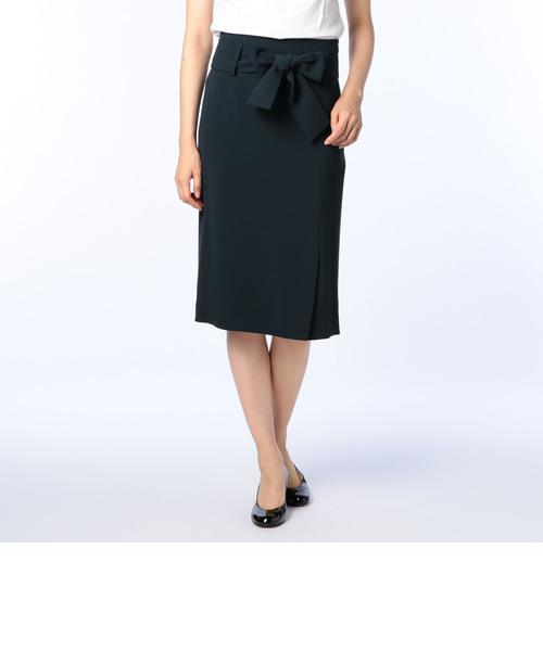 バックサテンウエストリボンスカート