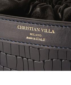 【CHRISTIAN VILLA/クリスチャンヴィラ】 型押ミニバケツバッグ