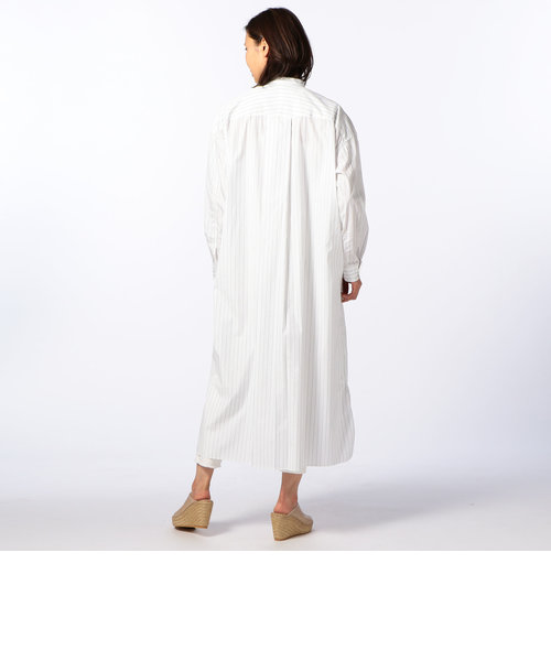 タイプライターマキシ丈シャツ