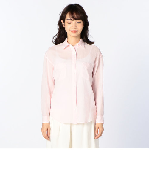 コットンラミーボイルシャツ