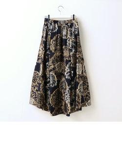 フラワーカットジャガードスカート