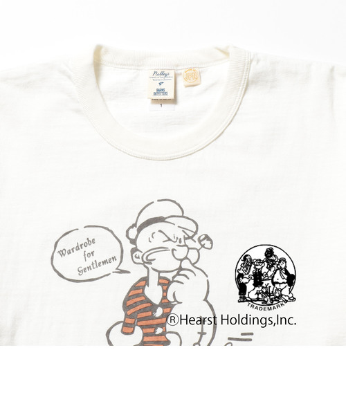 【BARNS×NOLLEY'S】別注吊り天竺POPEYEプリントTEE