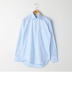 綾ドビーワイドカラーシャツ