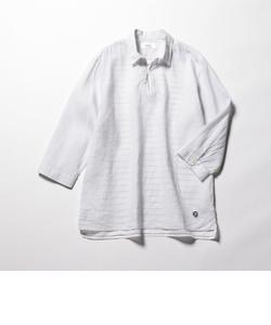 綿麻スキッパー七分袖シャツ