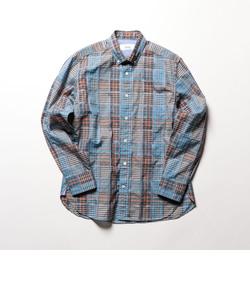 ランダムチェック ボタンダウンシャツ
