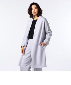 ウールスムース抜け衿コート