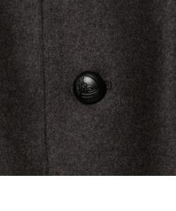 ソフトメルトン丸襟コート 17AW