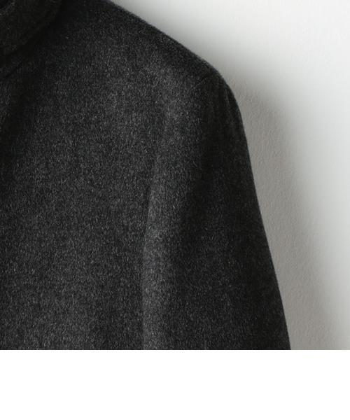 ダブルフェイススタンドカラーコート