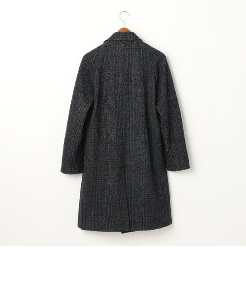 ネップツィ―ド グレンチェック ステンカラーコート
