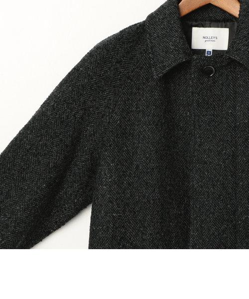 ネップツィ―ド ヘリンボン ステンカラーコート