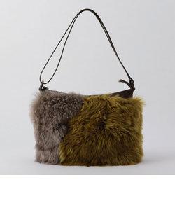 【Tee Lisa /ティーリサ】2トーンファーショルダーバッグ
