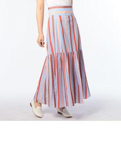 ラメマルチストライプスカート