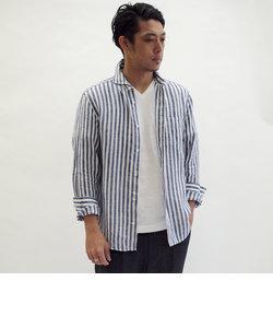 <新色追加>ハードマンズリネン/フレンチリネン カッタウェイシャツ