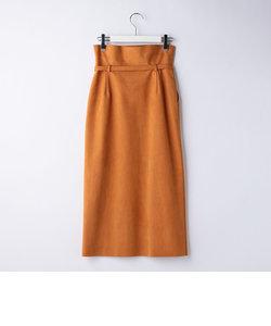 人工皮革スエードスカート