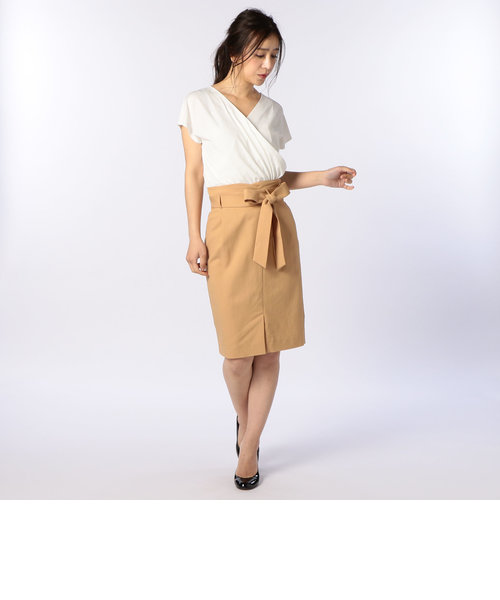 ウエストリボンタイトスカート